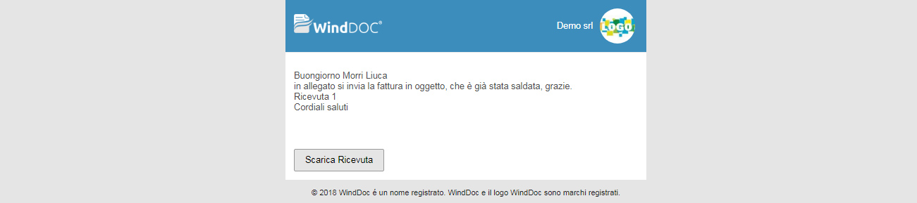 Email con link