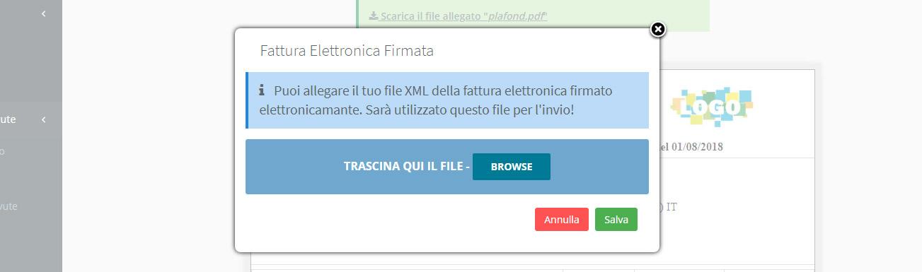 Fattura elettronica allegato xml