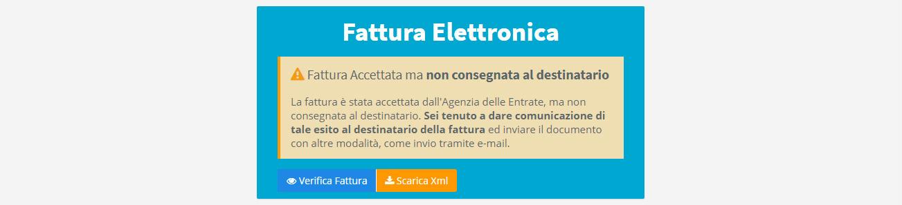 Fattura elettronica - Accettata