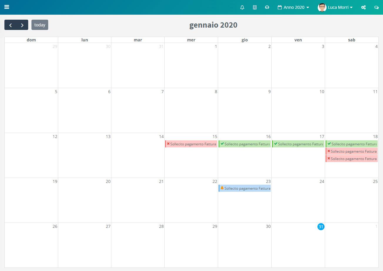 Calendario Solleciti